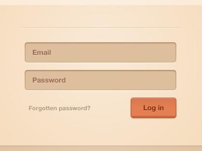 Login login sign in form button field