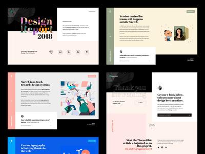 Design Report 2018 - Web trends 2018 report design avocode illustration web