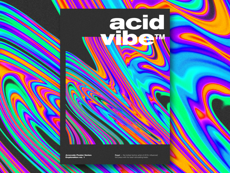 Acid Vibe design techno regal acid psychedelic gradient abstract graphic poster