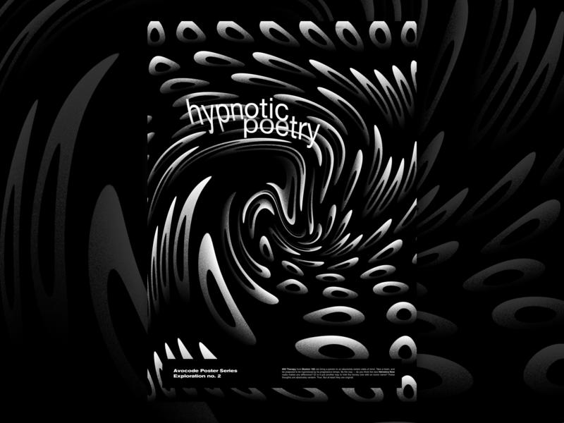 Hypnotic Poetry boston168 tribute techno poster design graphic avocode art abstract