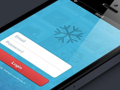 SnowKeep Login snowkeep teasing iphone app ios ui login