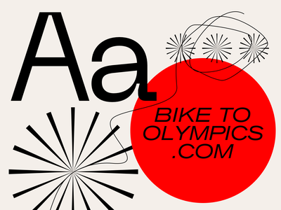 Bike to Olympics japan athens olympics to bike typography web