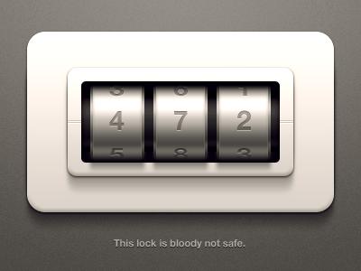 Unsafe Lock Rebound illustration metal safe lock password ui
