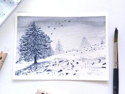 Dreamy winter scene