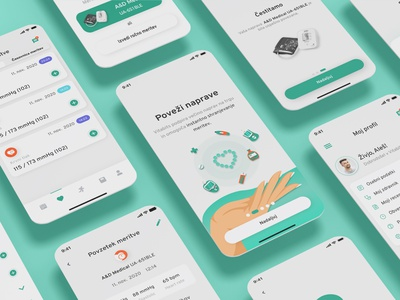 Medical app illustration ui app design medical app profile onboarding medical care mobile medical
