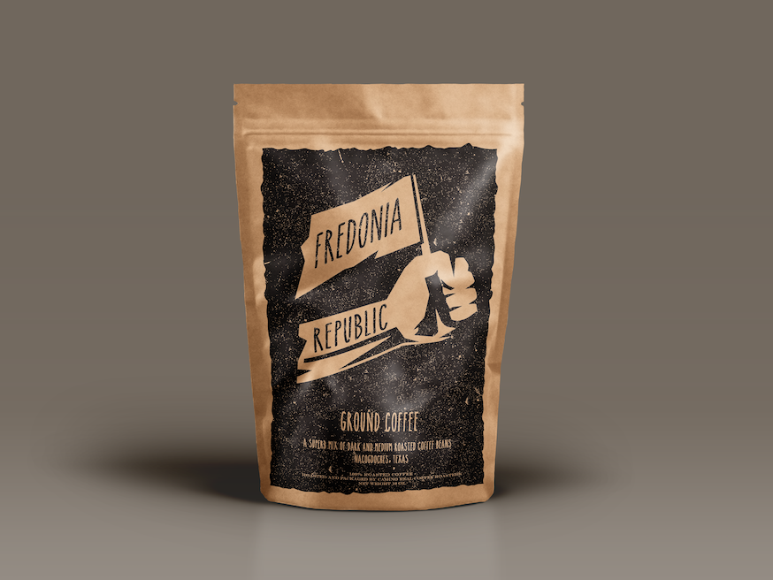 Coffee Bag illustration typography branding logo design