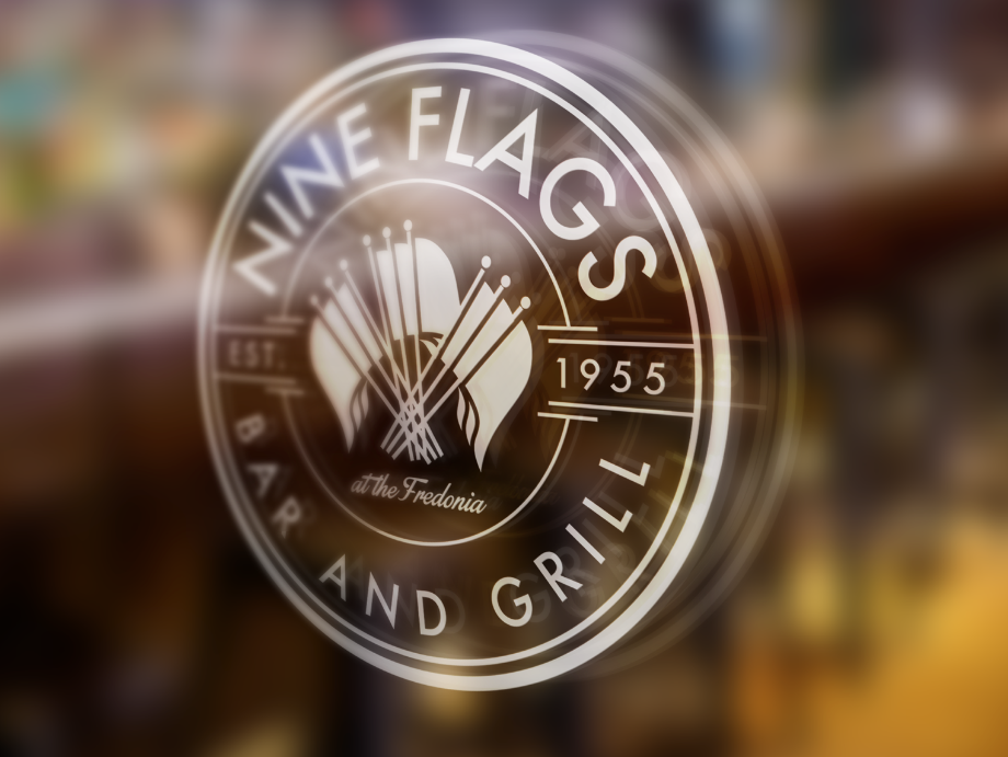 Nine Flags Bar and Grill logo