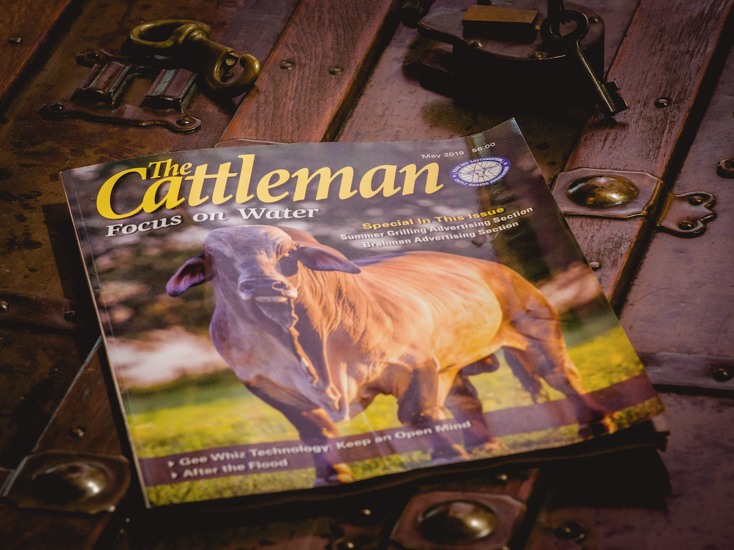 Photo featured on the cover of The Cattleman photography