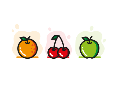 Fruit icons design icon illustration illustrator fruits