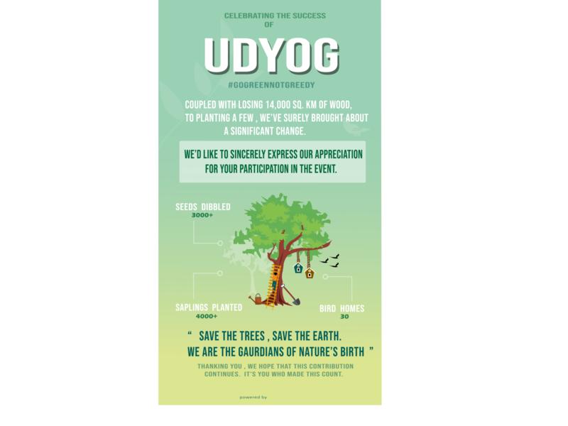 Tree Plantation vector poster illustration