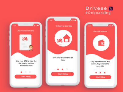Driveee onboarding uiux mobile design