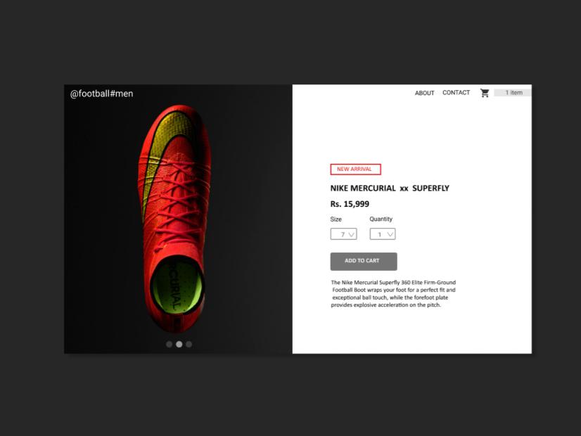 E-com product design webdeisgn ui dailyui