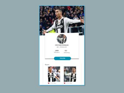 User Profile design app ui webdeisgn dailyui