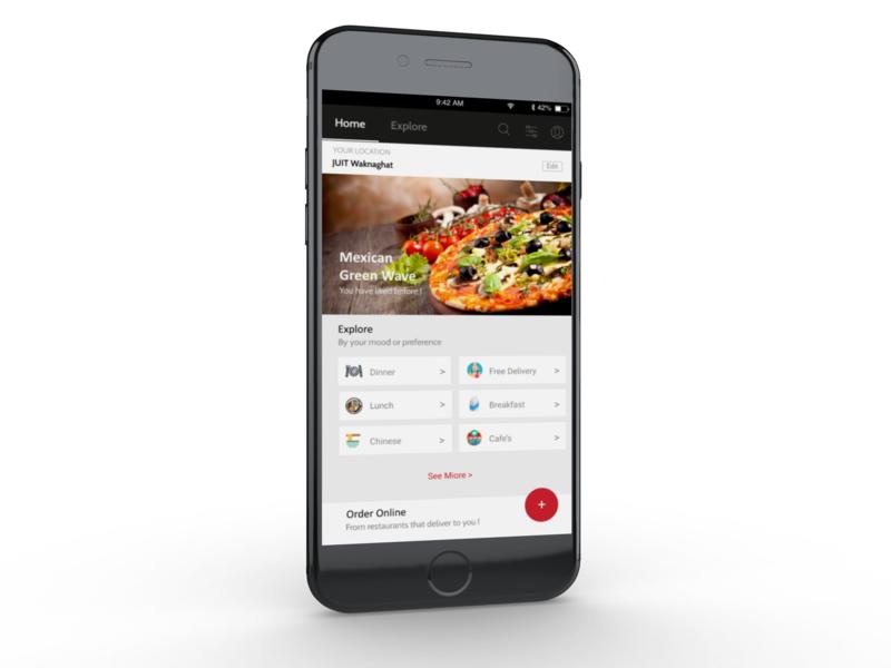 Food App appdesgin design ui dailyui