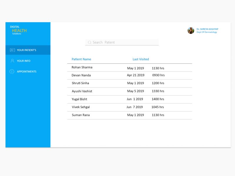 Health Care Portal appdesgin app webdeisgn design ui