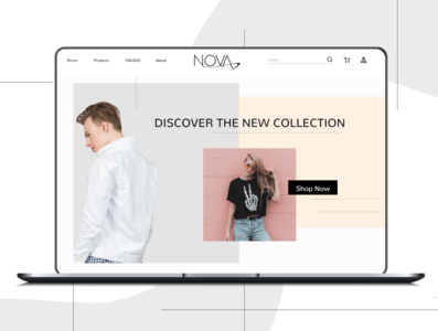 Fashion app landing page concept