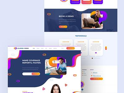 Website Design for Press Tracking Software branding design wordpress illustration web design and development web development company web design ui web development