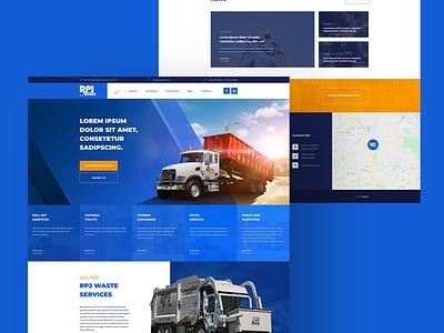 RPJ Waste ux mockup design design ui web design and development web development company web design web development