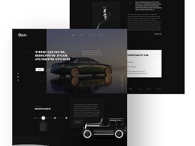 Cole Motor Car Company automotive design automotive ux mockup design design web design and development ui web development company web design web development