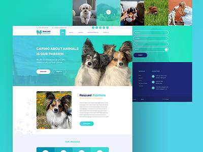 Rescued Papillons wordpress design ux mockup design web design and development web development company ui web design web development papillon
