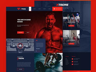 Fitness Website Design ux mockup design design web design and development web development company web design ui web development
