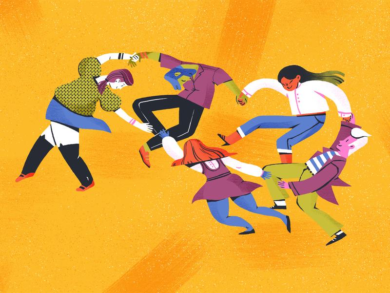 Let's Dance! dance music dancers matisse art facebook facebook banner facebook ad editorial magazine article editorial illustration illustration
