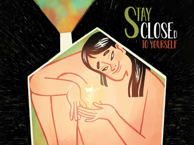Stay Close(D) holiday fairy rainbow illustration editorial love soul happiness blocked naked woman lockdown home