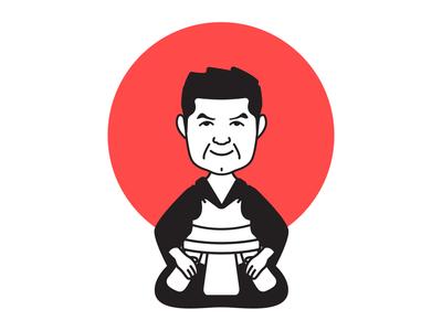 Kendo Character Sticker