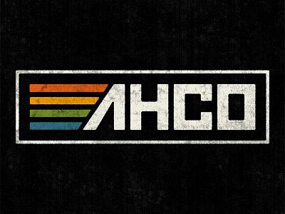 AHCO VHS bespoke type custom type vintage logo branding vhs adam hanson ahco