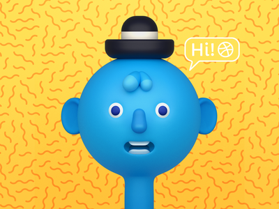 Hello Dribbble! 3d character firstshot hello 3dart design zbrush illustration cinema4d