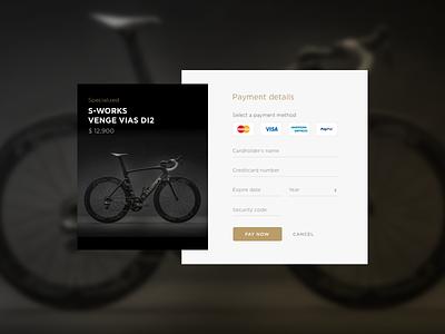 DailyUI 002 Creditcard Checkout product bike payment creditcard checkout dailyui 002 dailyui