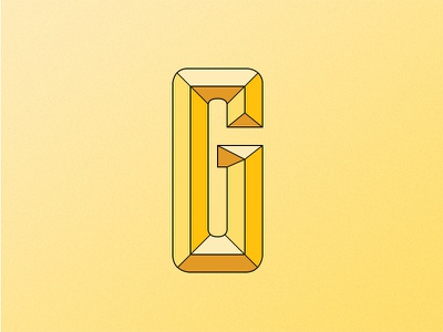 G vector yellow typography g letter