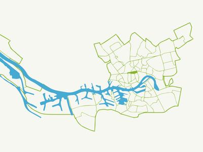 Map of Rotterdam