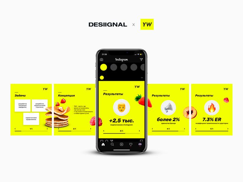 Instagram carousel for Yellow Walls marketing agency marketing agency desiignal yellowwalls photoshop web-design key-visual brand design banner design social media design