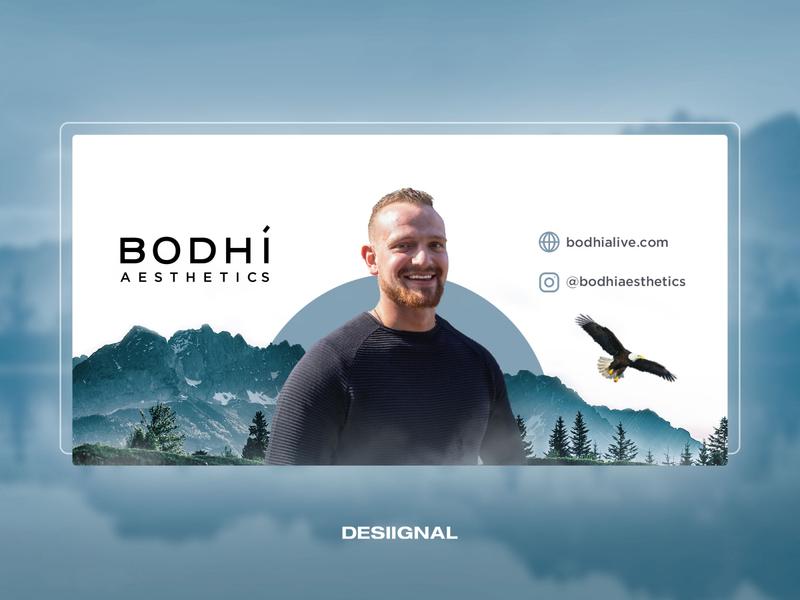 Facebook cover for Bodhi Aesthetics key-visual banner design minimalism minimal social media design desiignal designer design art bannerdesign banner social media social