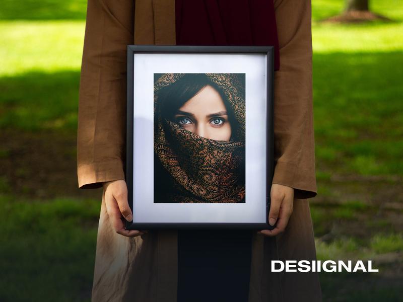 Frame mockup (A4, vertical) template illustration print print design freebie mockup designer design desiignal