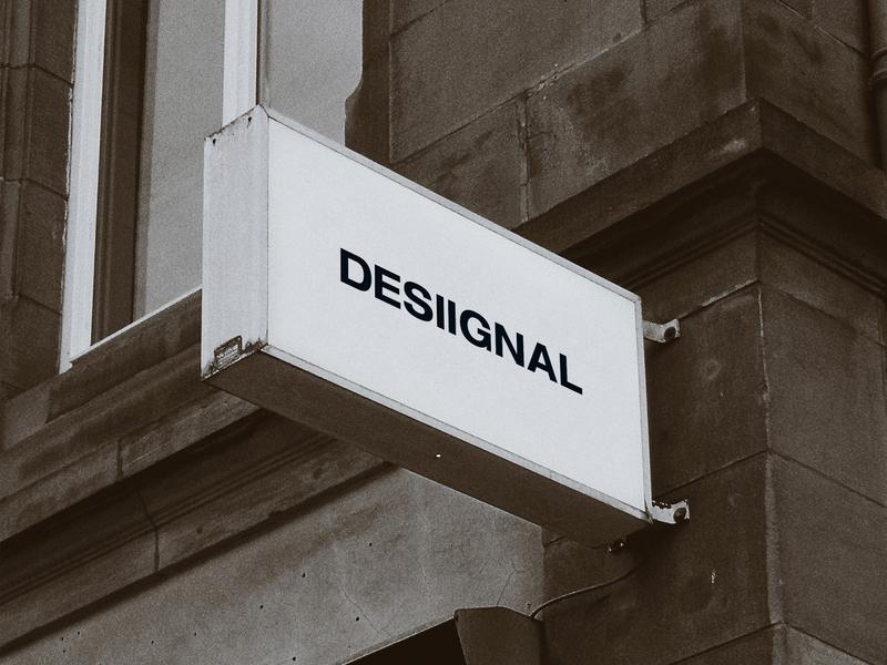 Sign mockup by Desiignal designer design resources freebie branding marketing advertising print banner design desiignal design template signage design sign mockup design mockup psd mockup
