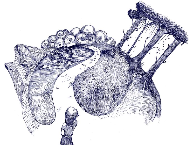 Twisted World illustration ink art ink illustration