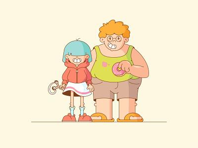 Friends friends design illustration characterdesign cartoon character