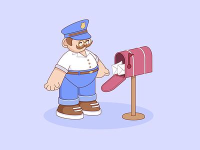 Postman postman 3d characterdesign cartoon character illustration