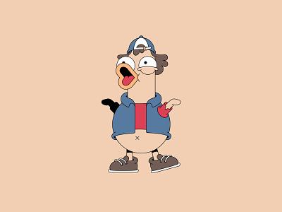 Duck Dipper character cartoon characterdesign design 2d