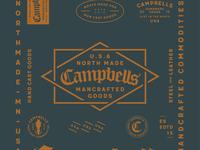 Campbells HandCast Goods Branding