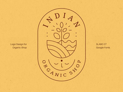 Logo design vector illustration vector india flat organic logo design logo