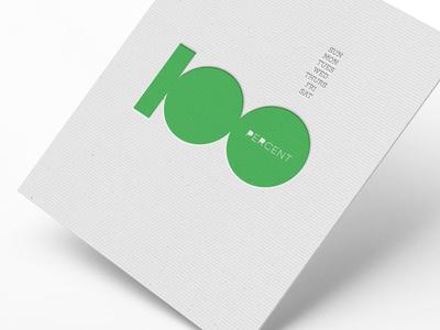 100 Percent Embossed Card