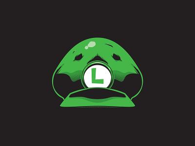 Luigi Cap sticker tshirt vector artwork vector art vector illustration video game mario bros mario luigi