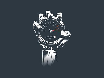 Unstoppable T-shirt Design t-shirt t-shirt design tshirt art tshirt design grip hand speedometer unstoppable illustrated illuatration design vector art vector