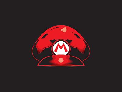 Mario Cap stickers t-shirt graphic illustration mariobros video game mario bros vector art vector nintendo super mario mario