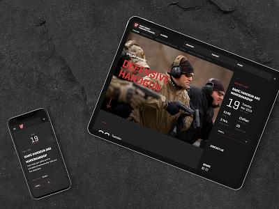 Hard Target Website web responsive branding interface website design ui  ux design design mobile website web design