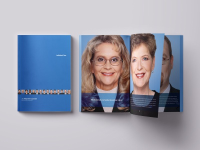 Bank Annual Report photography customer care portrait printing brochure financial finance bank design print design print annual report