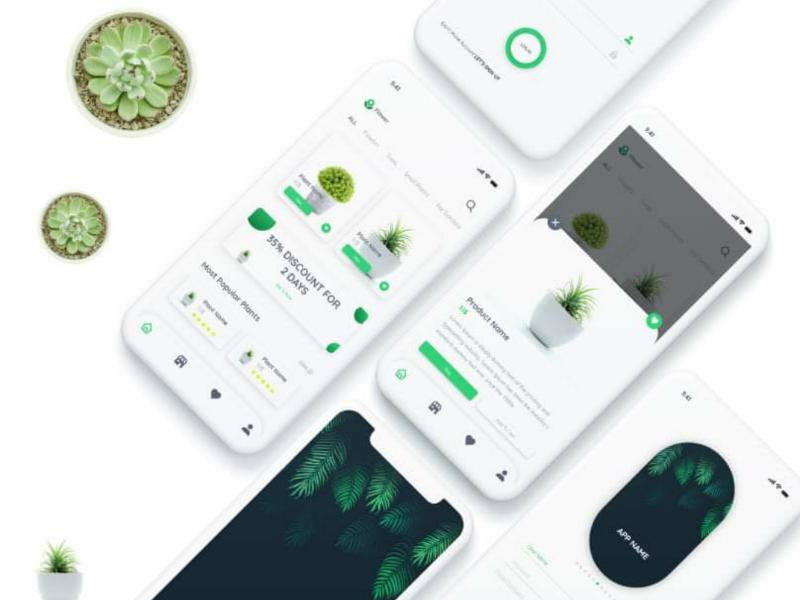 UI Design For Plants and Flowers App app design app creative ios android ux ui